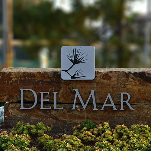 Del Mar Monument Signage for Business in Santa Ana, CA