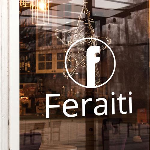 Storefront Window Graphics for Feraiti in Santa Ana, CA