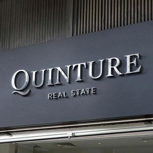 Quinture Storefront Custom Signs in Santa Ana, CA
