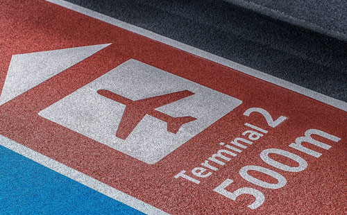 Floor Signs & Graphics for Airport Terminal in Santa Ana, CA